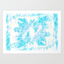 Blue (Da Ba Dee) Art Print