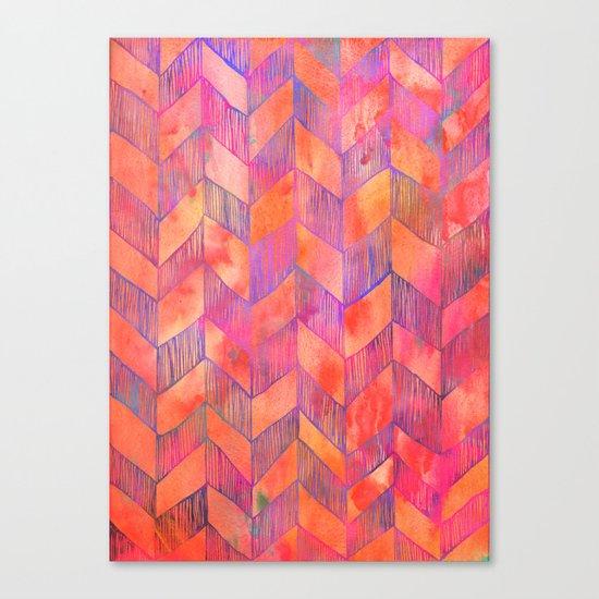 PATTERN {Chevron 012} Canvas Print