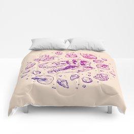 Geo-rex Vortex | Magenta & Purple Ombré Comforters