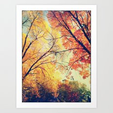 Autumn Embrace Art Print
