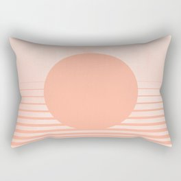 The Sweet Life Collection - Peach Coral Sun Gradient Rectangular Pillow