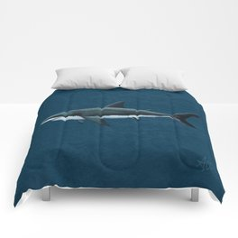 """""""Carcharodon carcharias"""" by Amber Marine  ~ Great White Shark Art, (Copyright 2015) Comforters"""