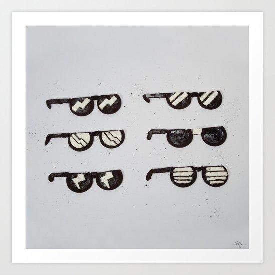Oreo Sunglasses Art Print