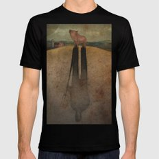 Animal Farm Black MEDIUM Mens Fitted Tee