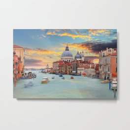 Grand Canal in Venice, Italy Metal Print
