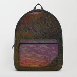 The Evening Haystack at Sunset by Henri Jean Guillaume Martin Backpack