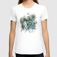 T-shirts featuring Death Starry Night by The Cracked Dispensary