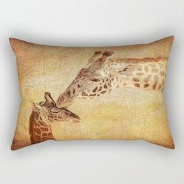 A Mother's Kiss Painted Rectangular Pillow