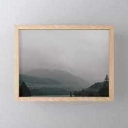 Bridge of the Gods // Oregon Framed Mini Art Print