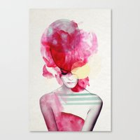 contact Canvas Prints featuring Bright Pink - Part 2  by Jenny Liz Rome