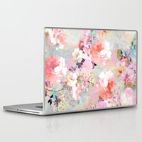 tree Laptop & iPad Skins featuring Love of a Flower by Girly Trend