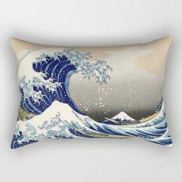 Katsushika Hokusai, The Great Wave off Kanagawa, 1831 Rectangular Pillow