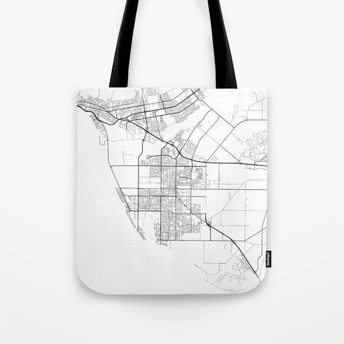 Minimal City Maps - Map Of Oxnard, California, United States Tote Bag