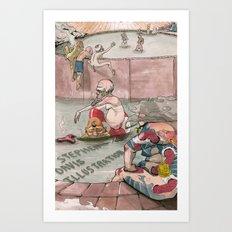 Bath House 1 Art Print