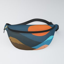 Abstraction_Mountains_Fantasy_Night Fanny Pack