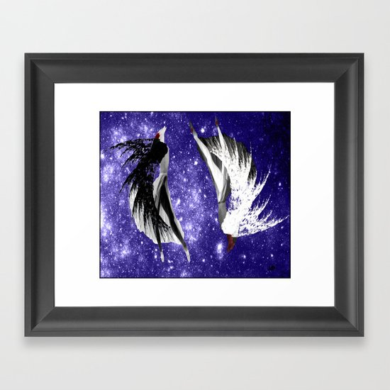 Galaxy Queen Framed Art Print