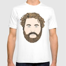Zach Galifianakis White Mens Fitted Tee X-LARGE