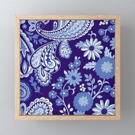 Floral and Paisley Mix Blues Framed Mini Art Print
