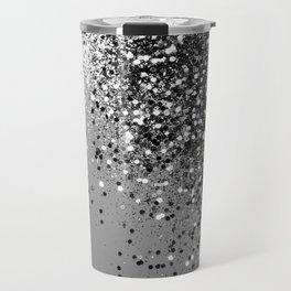 Sparkling Silver Gray Lady Glitter #1 #shiny #decor #art #society6 Travel Mug