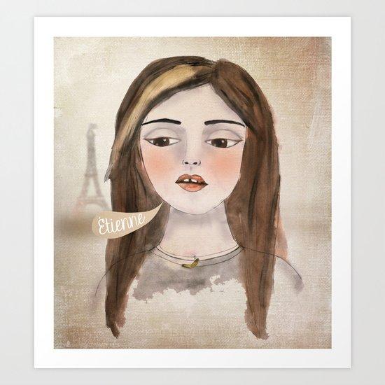 Anna Banana Art Print
