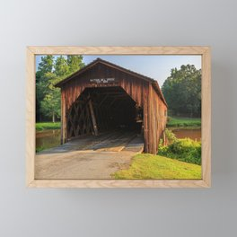 Entering Watson Mill Bridge Framed Mini Art Print