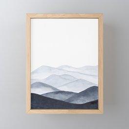 Watercolor Mountains Framed Mini Art Print