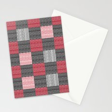 Red, White & Black Pattern Attack Stationery Cards