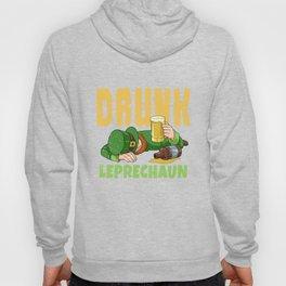 Drunk Leprechaun Funny St Patricks Day Irish Beer Design Hoody