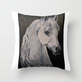 Ghost Horse Throw Pillow