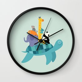 Travel Together Wall Clock
