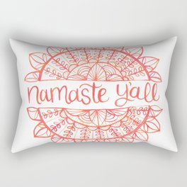 Namaste Y'all Yoga Rectangular Pillow