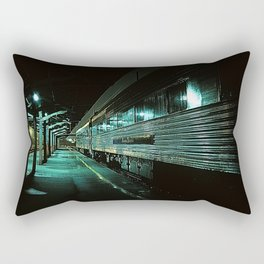 Blue train Rectangular Pillow