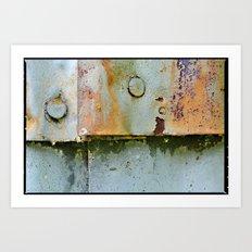 Divots and Paint Art Print
