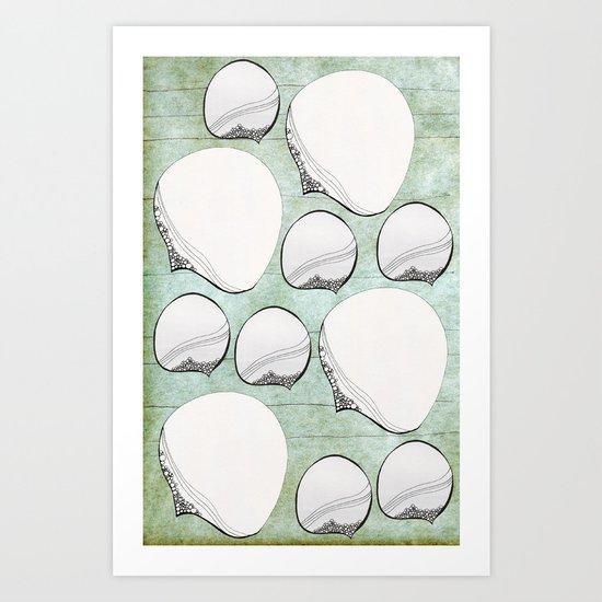 Stone Bubbles Art Print