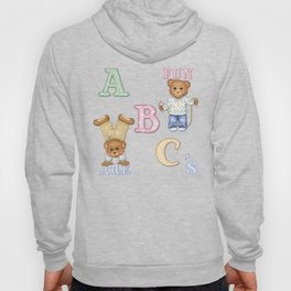 Teddy Bear Alphabet ABC's Hoody