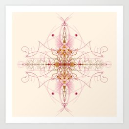 Abstract in Pink & Brown Art Print