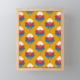 Retro fall florals- n. 4 Framed Mini Art Print