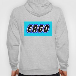 ERGO in Brick Font Logo Design [Alternate Colors] by Chillee Wilson Hoody