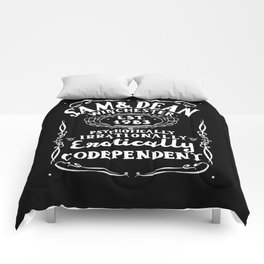 Erotically Codependent - Black Background Comforters