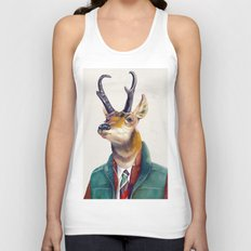 Pronghorn Deer Unisex Tank Top