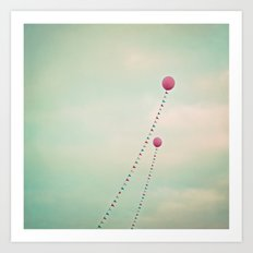 Whimsical Balloons Art Print