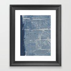 Indgo Paste Print Framed Art Print