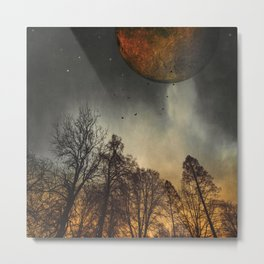 when the mOOn was young Metal Print