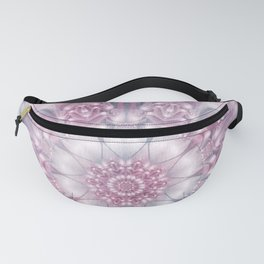 Dreams Mandala in Pink, Grey, Purple and White Fanny Pack