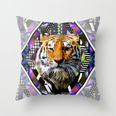 Trippin' Tiger Throw Pillow