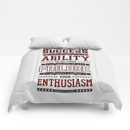 Lab No.4 Success is the ability Sir Winston Churchill Inspirational Quotes Comforters