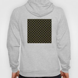 Art Deco: San Francisco Glitter-Gold and Black Hoody