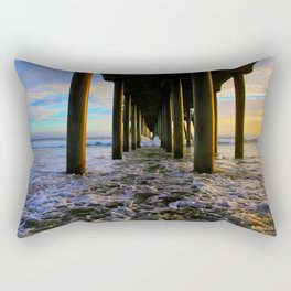 Sunset Under The HB Pier  9/1/13 Rectangular Pillow