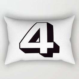 Lucky Number Four ... 4 Rectangular Pillow