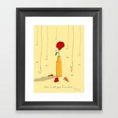 L'amour Framed Art Print